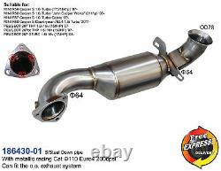 Exhaust Downpipe 64mm with racing cat for Mini Cooper S R56 R57 R60 Peugeot 207