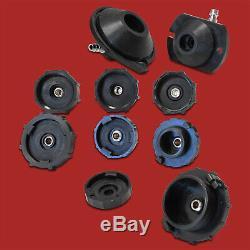 PROFI Druckluft Bremsenentlüfter+Adapter Satz Bremsen Entlüftungsgerät Werkzeug