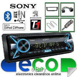 Peugeot 107 Sony CD MP3 USB Bluetooth Handsfree Ipod Iphone Radio Stereo Kit
