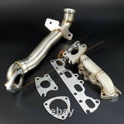 Turbo Exhaust Manifold+Downpipe For Peugeot 207/ Mini Cooper R56 R57 1.6i Turbo