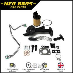 Turbo Fitting Kit, Strainer Oil Feed Return Pipe Peugeot Citroen Ford 1.6 110bhp