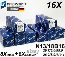 X16 INTAKE + EXHAUST Valve BMW N13 B16, N18 B16, EP6CDTX TRW 111226 + 539031